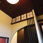 西条新築和室床の間、竹格子、R壁,モダン和風