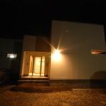 西条スタイリッシュ平屋外観、塗り壁、外断熱