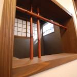 新居浜和モダン飾り窓、竹格子