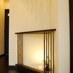 西条モダン和風 飾り棚、竹格子
