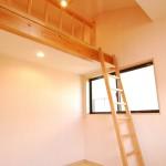 モダン和風住宅の子供部屋ロフト