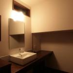 新居浜モダン和風 造作洗面台、鏡、棚