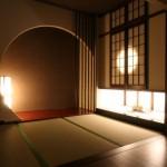 西条モダン和風平屋、飾り棚、床の間、R壁