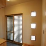 西条和風新築 玄関ホール 明かり窓