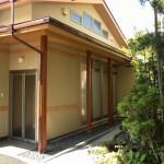 西条純和風新築 外観 庭