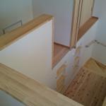 西条モダン和風新築 ロフト、無垢杉床材