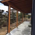 新居浜リフォーム庇、束石