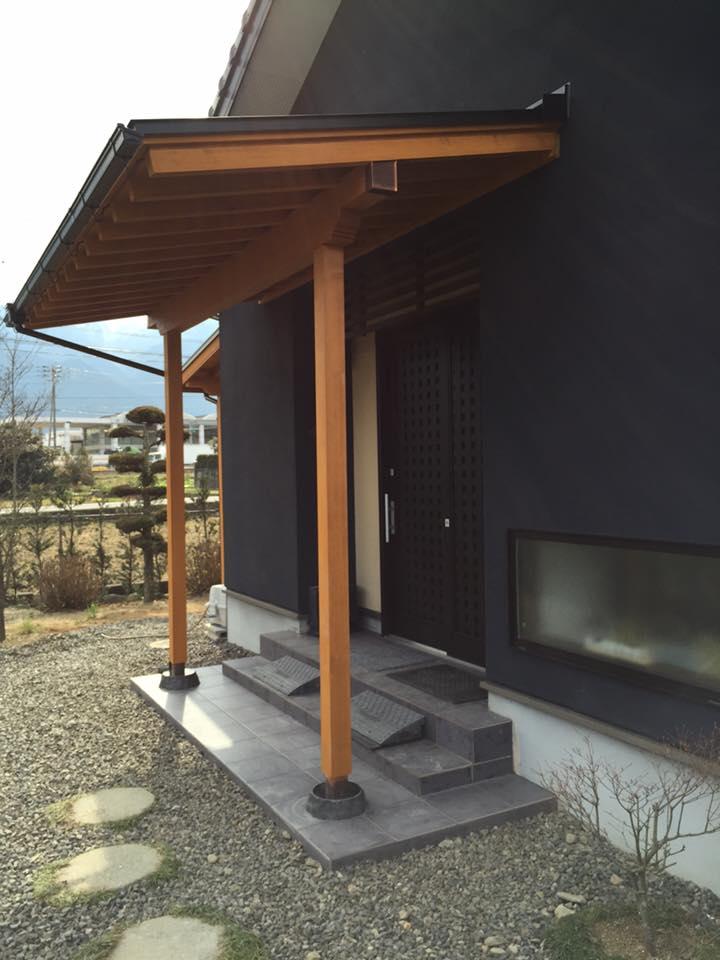 新居浜リフォーム、玄関庇,束石