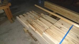 西条新築住宅 木材加工