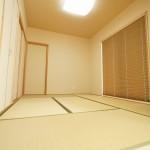 新築注文住宅大壁8帖和室、造作建具