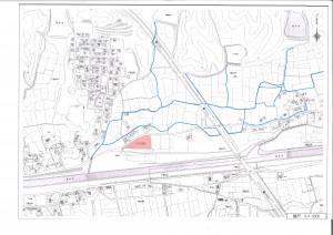 西条市玉津校区下島山分譲地地図